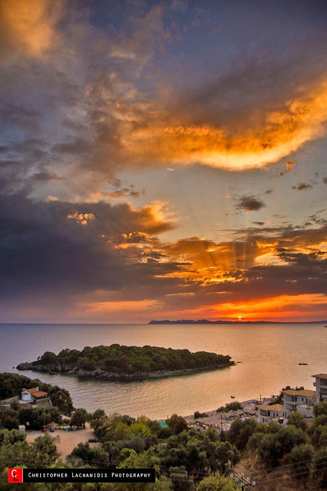 Sunset in Agia Paraskevi!